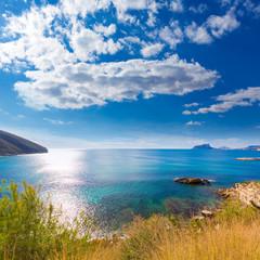 Moraira playa el Portet beach in Mediterranean Alicante