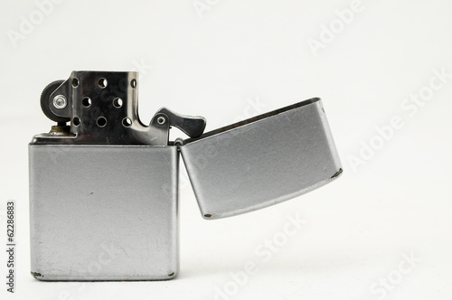 Vintage Lighter On White Background