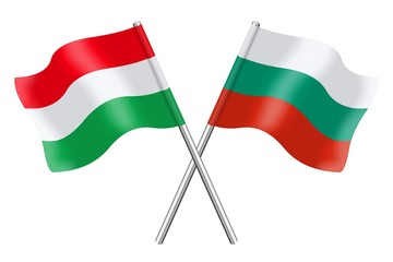 Flags: Hungary and Bulgaria