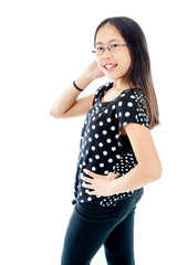 Confident Asian Tween Girl Posing