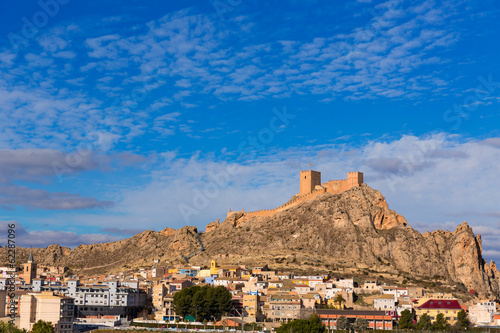Alicante Sax village castle in Spain