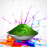 Beautiful splash of colorful grunge background gulal for holi fe