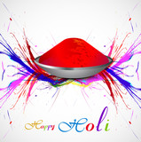 Gulal for holi background grunge of colorful wave illustration v