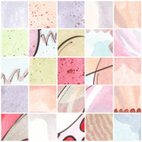 Watercolor Swatch Backgrounds Collection Splatter