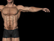 Conceptual man muscles background