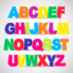 Colorful vector Alphabet.  Use for design.
