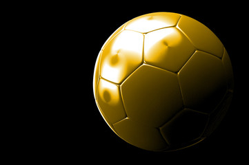 3d Football, Soccer Ball. Isolated on background