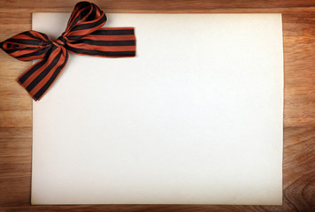Ribbon of Saint George on Paper