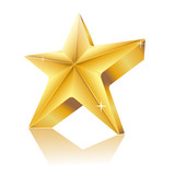 3d star made of gold