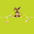 Easter Bunny & Symbols Green