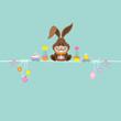 Easter Bunny & Symbols Retro