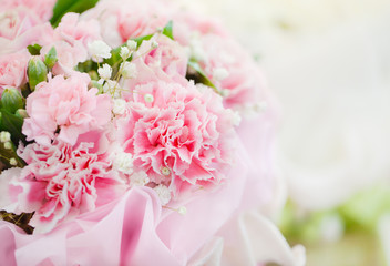 pink carnation bouquet close up