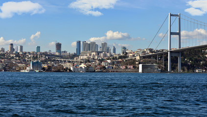 tourism and financial center in istanbul landscape