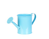 Blue watering can on a white background