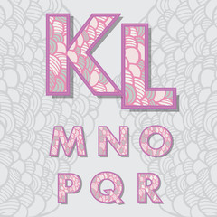 cute alphabet k-r