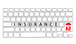 Keyboard with Insurance wording, Insurance concept