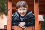 Little boy outdoor portrait