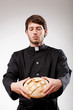 Priest with bread