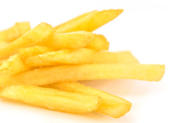 French Fries on white background