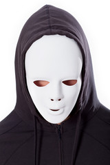 Person in mask and hood