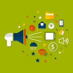Advertising a megaphone