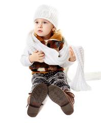 Baby girl dressed for winter