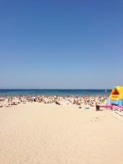 Sunny beach in France