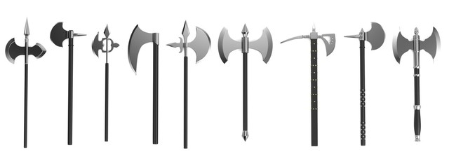 realistic 3d render of axes