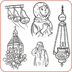 Orthodox religion - vector illustration.