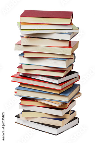 canvas print picture Isolated books stack