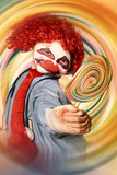 Hospital clown offering psychedelic lolly hypnosis