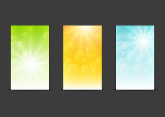 Set of sunny banners 240 x 400 size