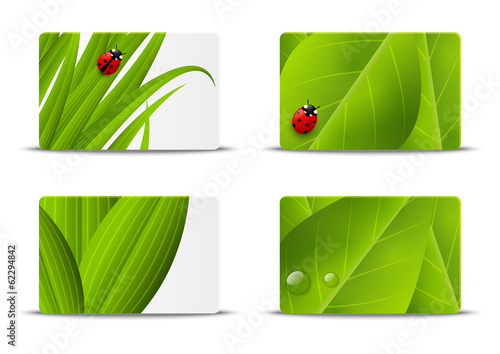 Set of vector business cards