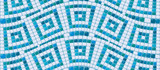 Seamless mosaic pattern - Blue ceramic tile