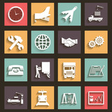Shipment and Transportation Icons and Symbols Flat Design Style