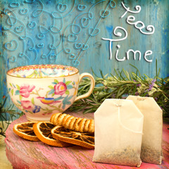 Tea time cheerful background