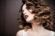 Leinwandbild Motiv Beauty styled closeup portrait of a young woman