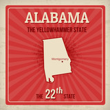 Alabama travel poster