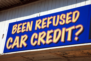 car credit sign