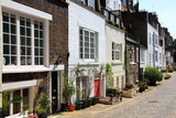 London mews houses poster
