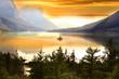 Wild goose island in Glacier national park - 62296070