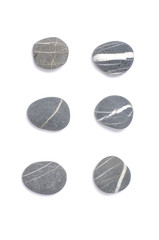 Set of natural sea striped stones