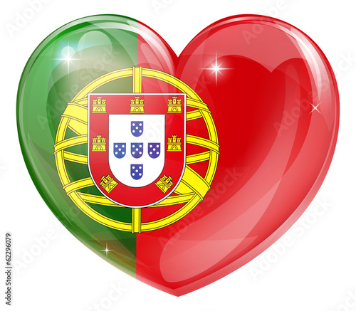 Portugal flag love heart