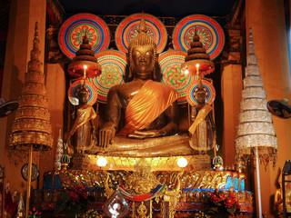 Buddha statue, Wat Ong Teu Temple, Vientiane, Laos