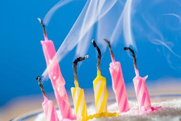 Six extinct candles
