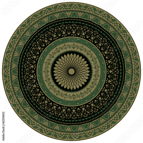 Vector Ornamental round floral pattern, indian style