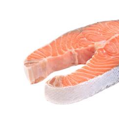 Fresh salmon steak.