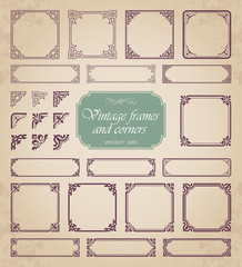 Vintage frames and corners