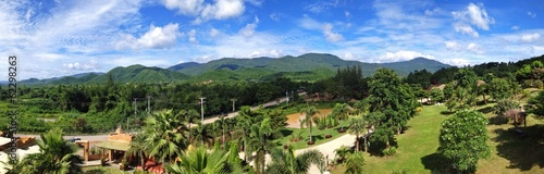 Panoramic view of natural scene in Thailand