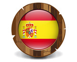 Spain wood button
